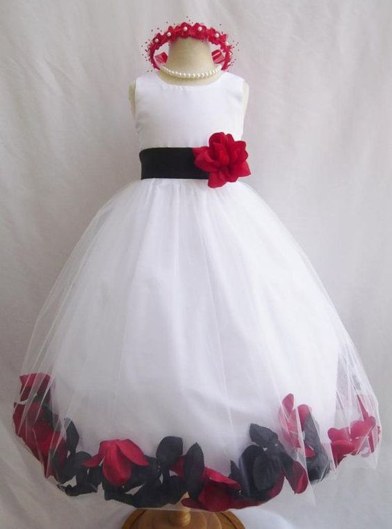 04435ee1c808f06806d4208b77873f2b - Red Flower Girl Dresses