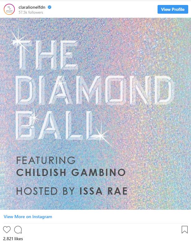 Capture - Rihanna Announces Issa Rae and Childish Gambino to Join the 2018 Diamond Ball