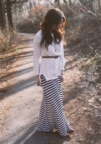 3 1 - Cool ideas to style in your Maxi dress this winter!