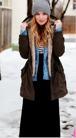 4 1 - Cool ideas to style in your Maxi dress this winter!