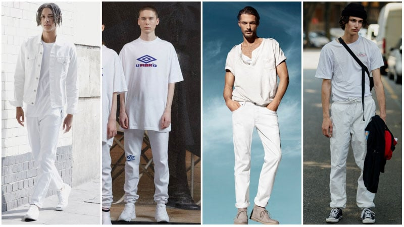 Casual All White Outfits for Men - Men's fashion trends 2018: What's unusual?